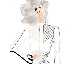 Fashion Illustration Art Print - Edgy Jumper