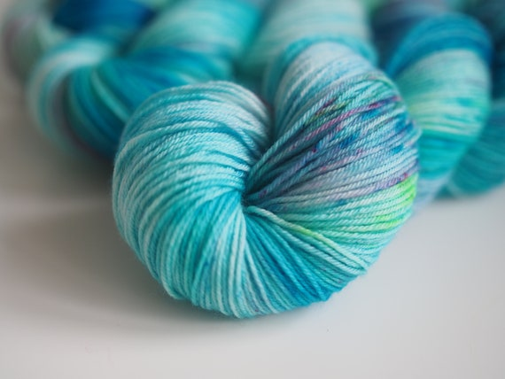 Aegean Sea Perfect Sock Merino Nylon Fingering Weight Yarn