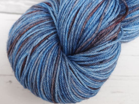 Little Smile - 'Dirty Denim' Fingering weight Merino and Silk Yarn