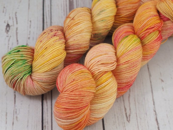Perfect Sock - Tequila Sunrise Merino / Nylon Fingering Weight Yarn