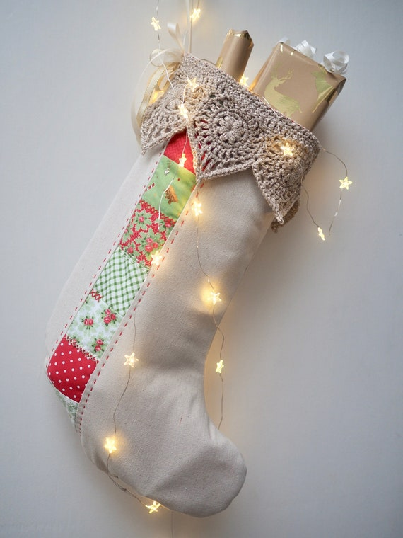 Handmade Christmas Stocking PDF Pattern - both UK & US crochet terminology