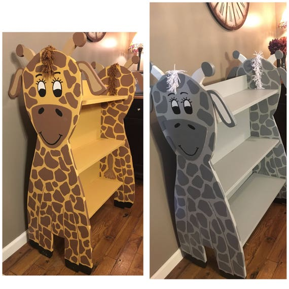 Cute Giraffe Bookcase for Kids