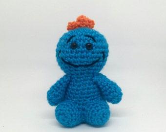 Mr Meeseeks Crochet Amigurumi Toy - Smiling