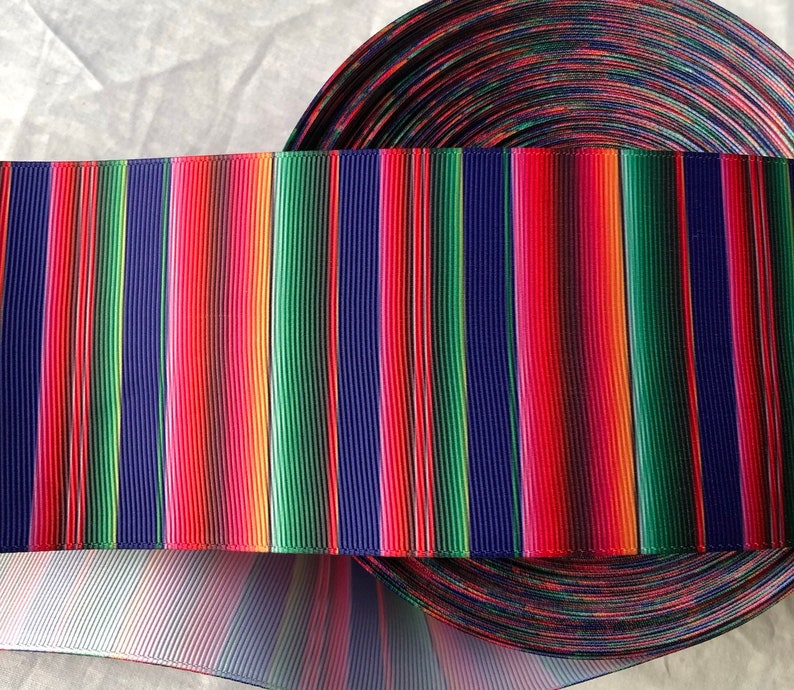 "Mexican  3/"" wide grosgrain ribbon 2 yards listing"