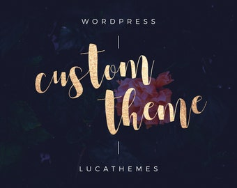 WordPress themes for bloggers by LucaThemes on Etsy