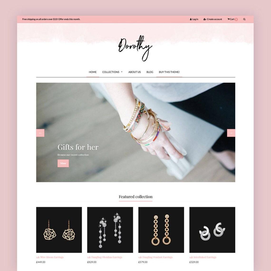 Feminine Shopify Theme  Dorothy  Shop Theme E-commerce image 0