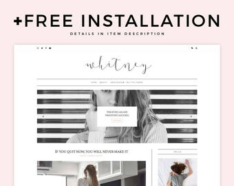 "Classic Blogger Template - ""Whitney"" 