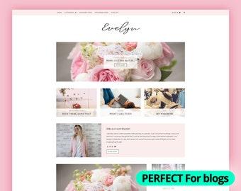 WordPress Theme Responsive   Blog Web Design Template