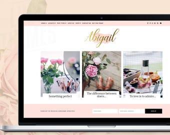 WordPress Blog Theme - Abigail / WordPress Theme Responsive / WordPress Website Design Theme