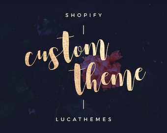 Shopify Custom Theme   Shopify Website Design, Shopify E-commerce Template with installation included