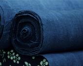Shibori Indigo Hmong Hand Woven Cotton Fabric - Vintage blue Tablecloth Tea towel - Homespun Natural hand dye Plant dyes - Chinese Tie dye