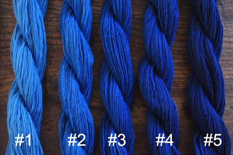 607493dd Chinese Indigo Blue Cotton Sashiko Yarn - Five color/ 100 meters - Likes  OLYMPUS threads - Embroidery Supplies Boro style Sashiko Supplies