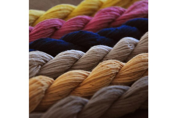 Natural plant dyes Colorful Cotton Yarn Hand dyed threads Sashiko Embroidery Supply Likes OLYMPUS Set of Six Boro style Sashiko Thread
