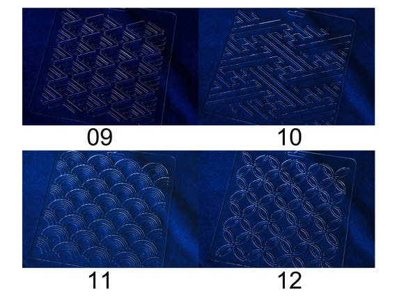 Quilting Stencils THEALESE Sashiko Stencils by Acrylic 9 Types 04 Sashiko Embroidery Pattern