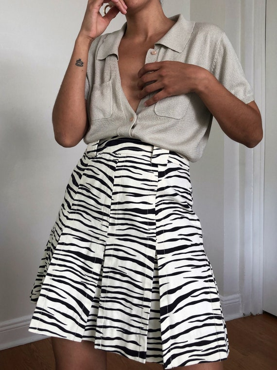 marc jacobs zebra print skirt, M
