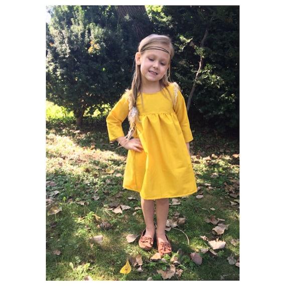 Girls Dressesgirls Clothing Boho Dress Mustard Dress Toddler Dress Wedding Outfit Family Pictures Lace Dress Yellow Dress