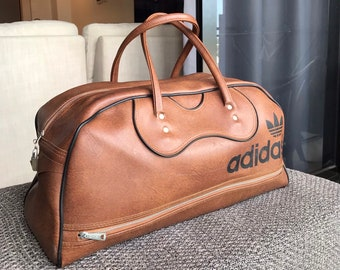 1a3d4efe390d Adidas Vintage Leather Duffle Bag