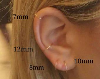 Cartilage earring, Cartilage hoops, Cartilage hoop earring, Cartilage earring hoop, Cartilage stud, Gold cartilage hoop, Cartilage piercing