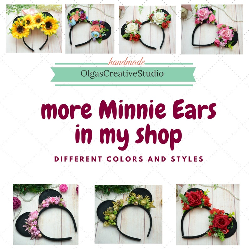 Peach red Mickey headband Minnie Ears Mickey Mouse headband Minnie Mouse Ears Mickey Mouse ears Disney Ears Disney headband Party
