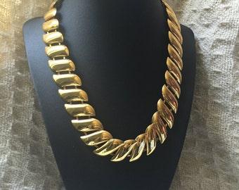 Vintage Goldtone  choker Necklace