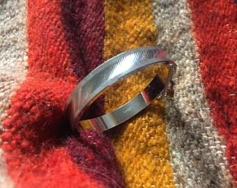 Roger Vintage West Germany Silver Bangle Bracelet