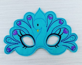 Peacock Face Mask