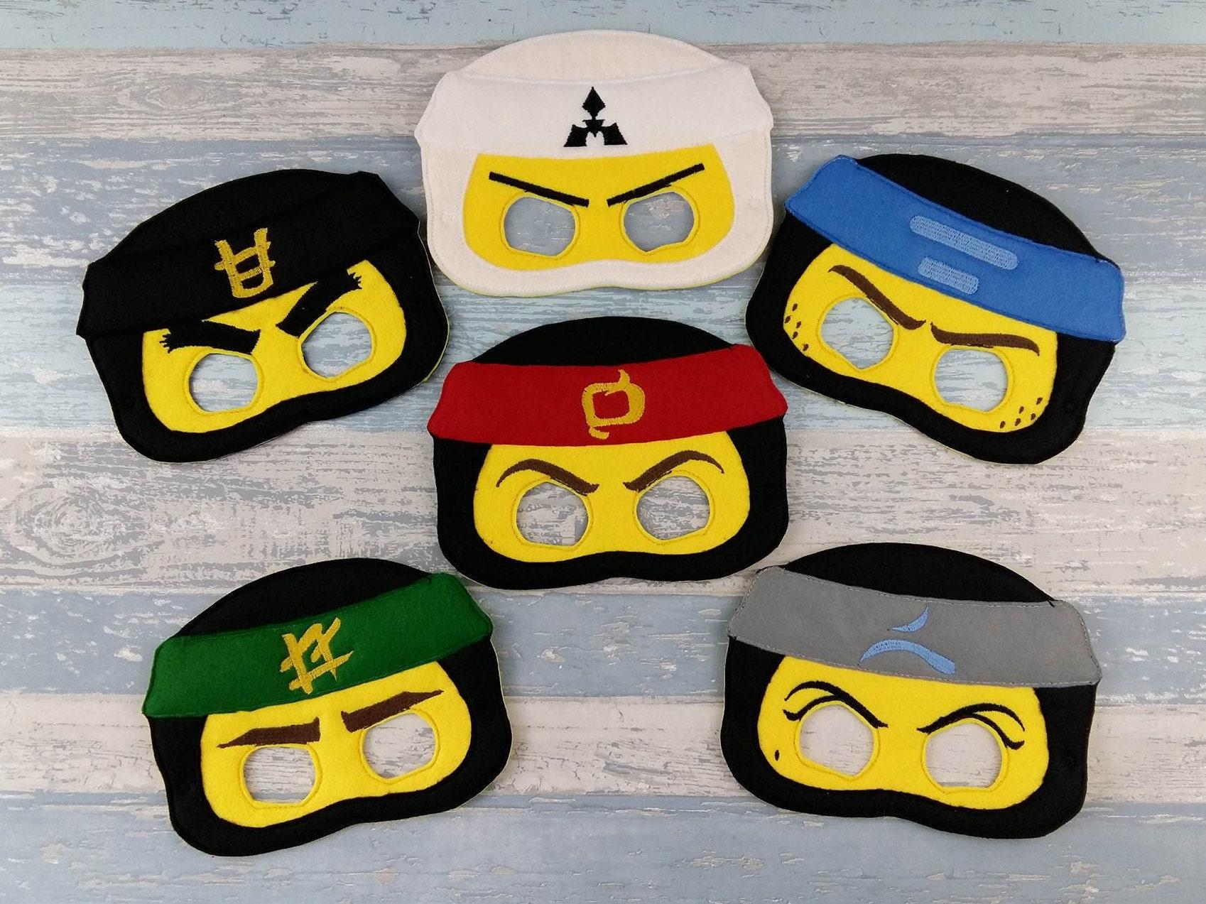 Lego Ninjago Mask Set Of Six Birthday Party