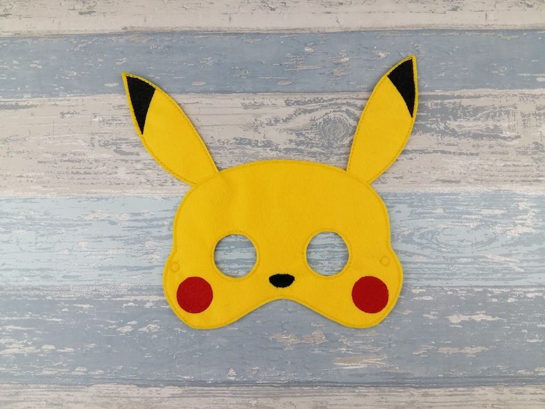 Pikachu Mask Pokemon Mask Pokemon Birthday Halloween Etsy