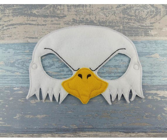 Eagle Mask Felt Bald Eagle Halloween Bird Party Mask Child Or Adult Mask Costume Patriotic Mask 4th Of July Mask America Mask