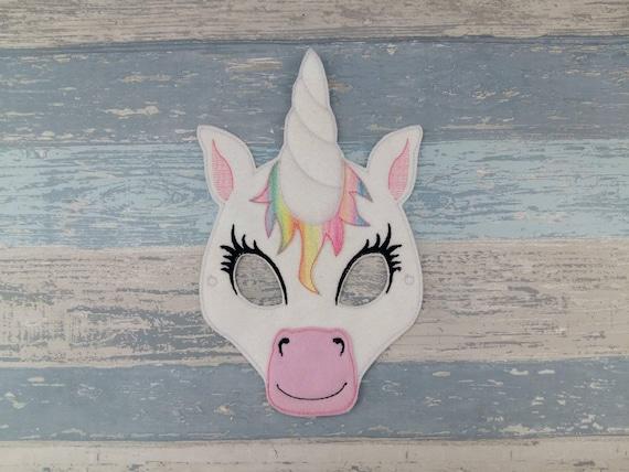 Unicorn Mask Felt Facemask Rainbow Dressup Costume