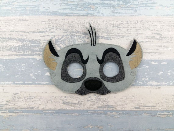 2c44c15b8 Hyena Mask - Felt Animal Mask - Child's Dress Up Imaginary Play - Birthday  Party Favor - Photo Shoot - Halloween Pretend Play - Theme Party