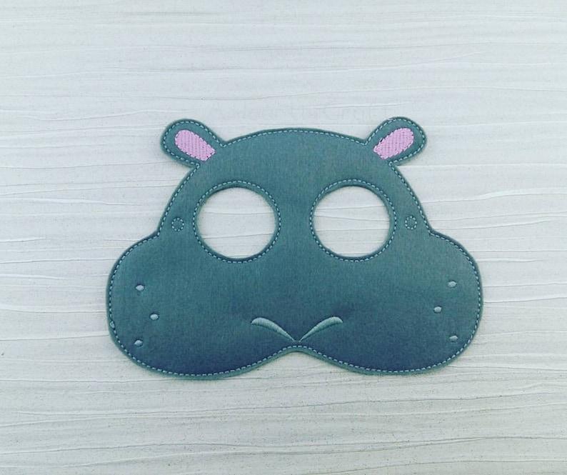 Hippopotame En Feutre Masque Hippopotame Hippopotamus Etsy