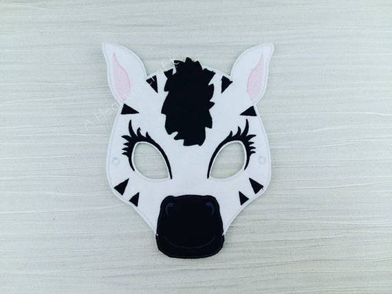 Zebra Mask Felt Zoo Animal Costume