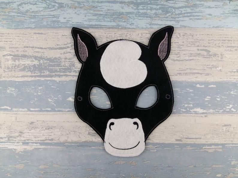 Stallion Felt Mask Horse Mask Felt Horse Mask Halloween Birthday Party Bag Favor Gift Equestrian Farm Stables Barnyard Party Gift