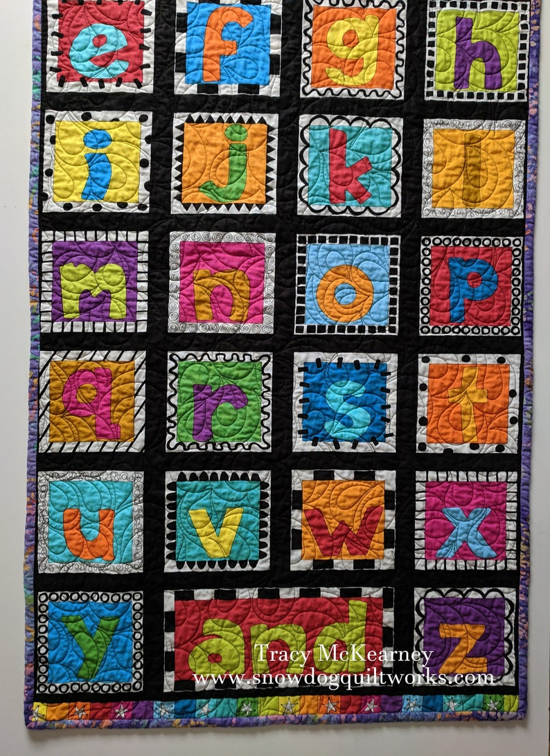 ABC Alphabet Wall Hanging. Custom Quilted Door Banner with image 0