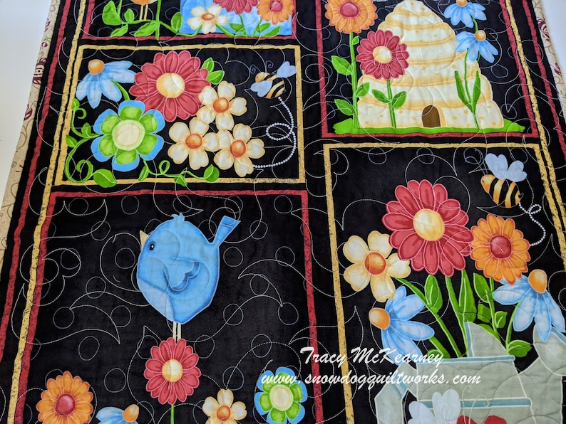 Spring or Summer Quilted Wall Hanging. Custom Quilted Door image 0