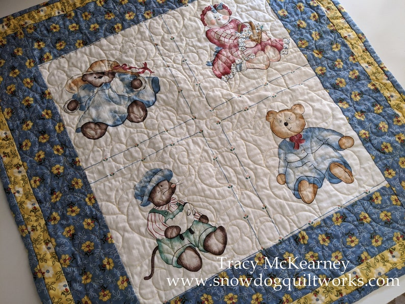 Quilt Wall Hanging with Hanging Pocket. Table Topper Custom image 0