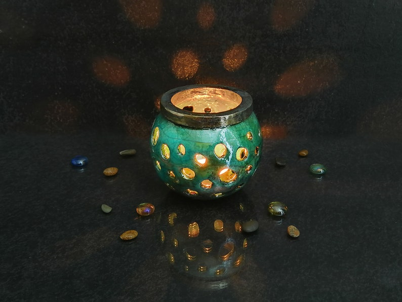 Candlesticks & Candelabra Porta Candela In Ceramica Fatto A Mano Vintage