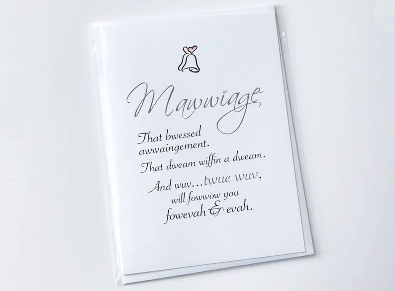 Handmade Funny Mawwiage Card From The Princess Bride Movie Etsy