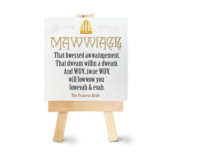Mawwiage Princess Bridge Mini Canvas Print Mawidge Mawwidge Etsy