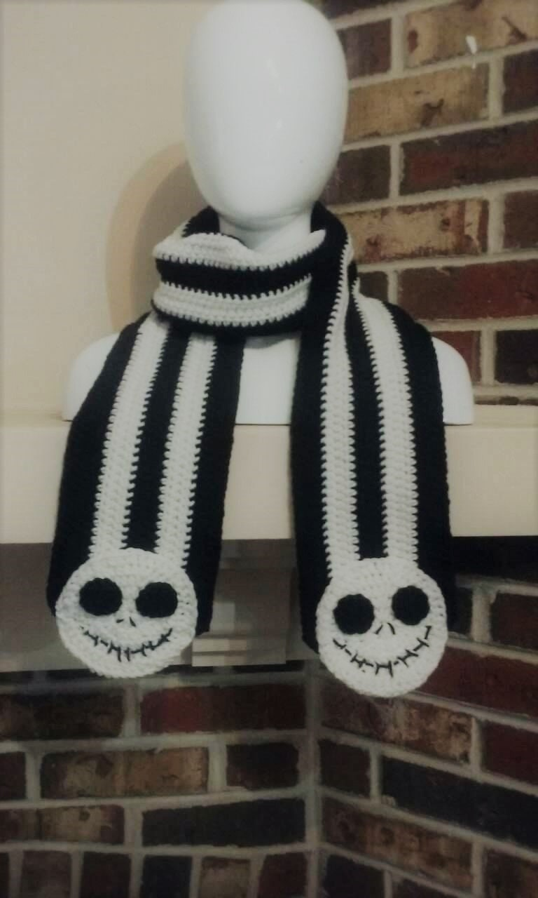 Nightmare Before Christmas Inspired Scarf Custom made in all | Etsy
