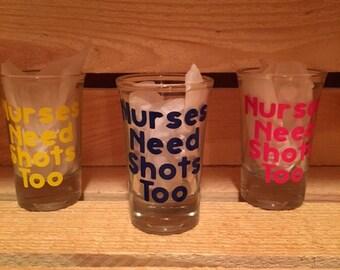 Shot glasses, decorated shot glasses