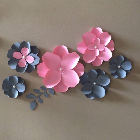 Paper Flower Hydrangea Diy Paper Flower Pdf And Svg Etsy