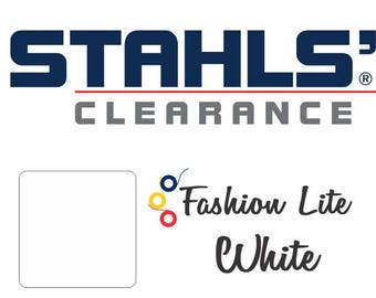 "20"" x 5 Yards - Stahls' Fashion-LITE - Smooth- Craft Roll - Iron-on  Heat Transfer Vinyl - HTV - White"