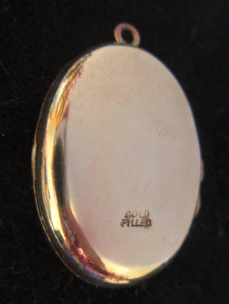Antique Engraved Gold Filled Locket Polished Stamped Gold Filled