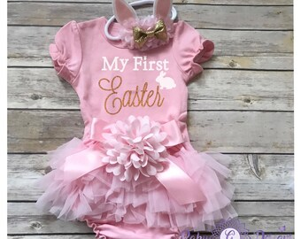 e73eb4cb3c989 First easter outfit | Etsy