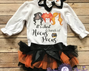 Hocus Pocus Halloween Outfit Baby Girl Fall Clothes Baby Girl Baby Gift My  First Halloween