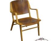 Mid Century Axe Lounge Chair by Peter Hvidt Orla Molgaard for Fritz Hansen