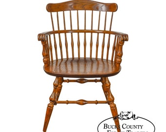 Nichols U0026 Stone Vintage Oak Captains Arm Chair