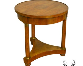 Baker Vintage French Empire Style Gueridon Round Side Table